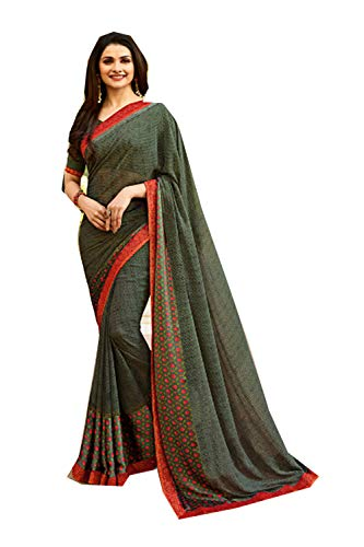 Donne Progettista Sarees Indiani Verde Etnica Tradizionale Facioun Da Partywear Sari IqwTcyHyt