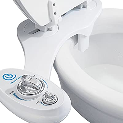 BOSS BIDET Toilet Attachment   Cleans Your Tushy   Dual Nozzle   30 Day Gurantee   Self Cleaning Feature   Sprayer - Black & White
