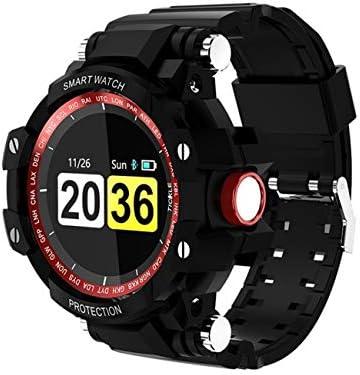 QTEC Reloj Inteligente Rojo a Prueba de Agua 200 días en Espera Smartwatch frecuencia cardíaca presión Arterial Hombres Mujeres Deportes al Aire Libre para ...