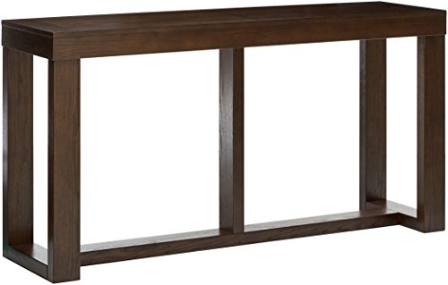 Ashley Furniture Signature Design - Watson Sofa Table - Rectangular - Contemporary Living - Dark Brown