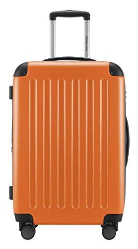 HAUPTSTADTKOFFER® Hartschalen Koffer SET · SPREE 1203 · NEU 4 Doppel-Rollen · MATT · TSA Zahlenschloss · ORANGE · + KOFFERANHÄNGER