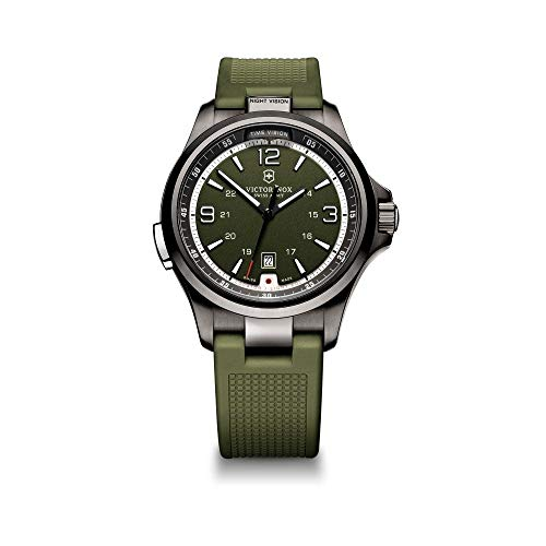 Victorinox Night Vision Green Dial Silicone Strap Men's Watch 241595XG (Certified ()