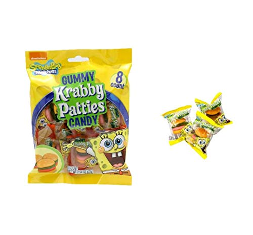 Nickelodeon SpongeBob SquarePants 8 Count Gummy Krabby Patties Candy, 2.54oz]()