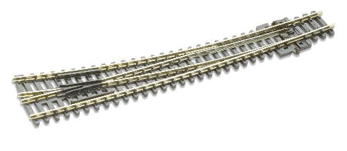 Curved Turnout - Peco N Scale Code 80 Insulfrog Double Curved Right-Hand Turnout