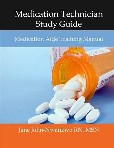 medication technician study guide medication aide training manual rh amazon com
