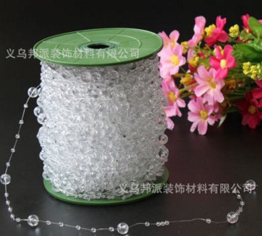 - Fortitude - 200 Feet Roll Clear Crystal Acrylic Party Garland Centerpiece Bridal Bouquet Decoration