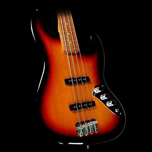 Fender Jaco Pastorius Jazz Electric Bass Guitar, Fretless, Rosewood Fretboard – 3-Color Sunburst