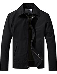 Men's Casual Long Sleeve Full Zip Jacket with Pockets