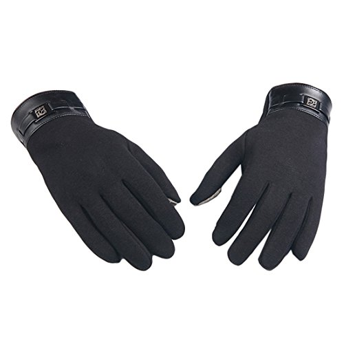 Doinshop 1 Pair Men's Skiing Gloves Winter Warm Mittens Touch Screen Cashmere Gloves