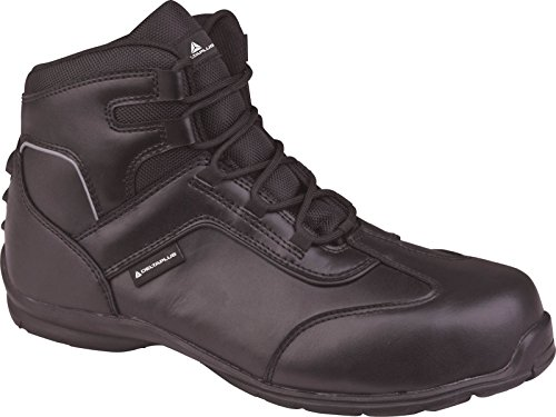 Delta Plus supervisers3alta zapatos de seguridad para hombre hebilla de piel Para Zapatos Negro - negro