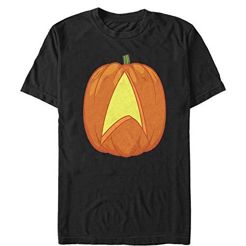 Star Trek Men's Halloween Starfleet Pumpkin Black T-Shirt