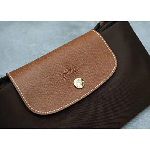 Shoulder Long Capacity Leather Handbags Bag Women Big 653 Folding Big 203 Delamode Canvas Champ pT0X5U