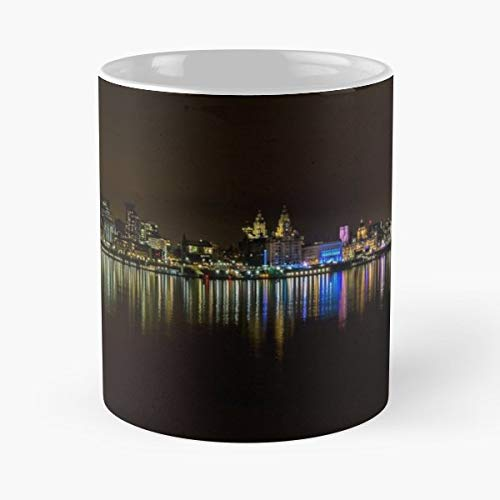 Liverpool Waterfront Three Graces Cunard Building - White -coffee Mug- Unique Birthday Gift-the Best Gift For Holidays- 11 Oz.