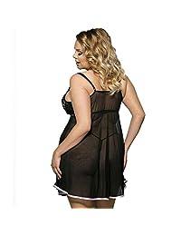 Womens Sexy Bow Lingerie Nightwear Underwear Plus-Size Sleepwear Nightdress Lingeries Nightgowns