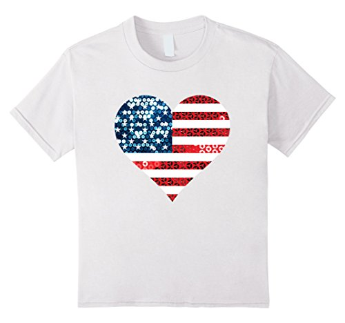 Kids usa heart american flag t shirt tee top t-shirt 12 - Gossip Girl T-shirts
