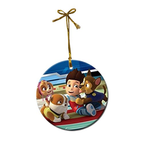 Paw Patrol Porcelain Christmas Ornaments