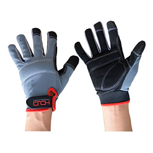 General Utility Light Work Glove,Breathable,Stretchable,Touch Screen,Padded Knuckles and Palm (Extra Large, Black and Gray) by Etglove