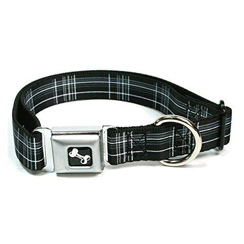 buckle-down-inc-dc-w31636-m-11-17-medium-black-gray-plaid-dog-collar