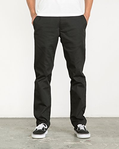 RVCA Men's The Weekend Stretch Pant, Black, 36
