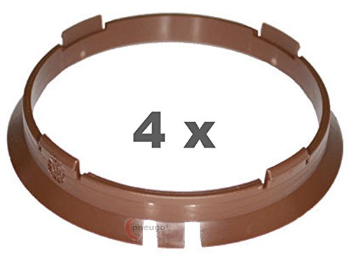 4/X Anello Di Centraggio in plastica 70.4/mm su 66.6/mm Marrone