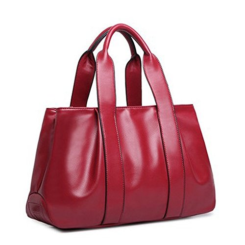 and bag bag fashion American handbag model 2018 method bags burst large kinds JVPS15 capacity dumpling leather Wine PU European women's three vintage shoulder back messenger Ms R ladies' red bag pq8BnUx