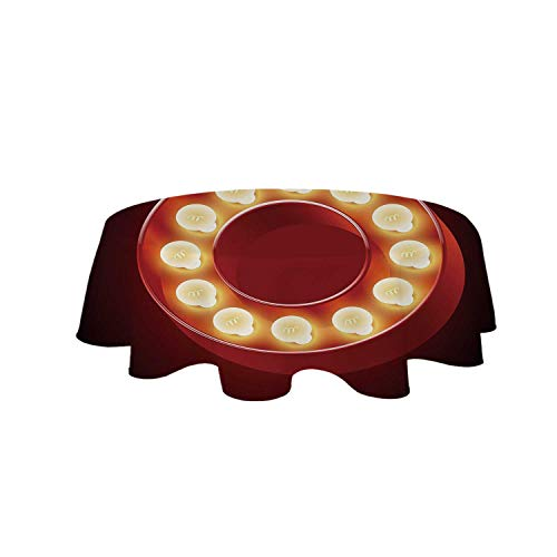 YOLIYANA Letter O Beautiful Tablecloth,Entertainment World in Vegas Theme Vintage Casino Nightclub Theater Typeset for Party,47