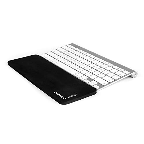 Grifiti Slim Pad 12 Smooth Surface Poron Black, Reversible Wrist Rest for Apple® Wireless Keyboard with Bluetooth