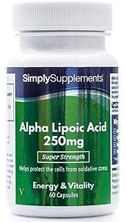 Ácido alfa lipoico 250 mg - 60 cápsulas - Coenzima que ayuda en la producción de