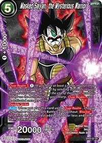 Masked Dragon - Dragon Ball Super TCG - Masked Saiyan, the Mysterious Warrior (Foil) - EX02-02 - EX - Expansion Deck Box Set 02 - Dark Demon's Villains