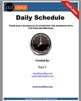 amazon com the heaver methods daily schedule learn how to make