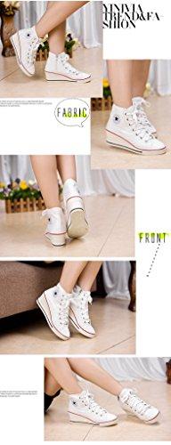 Scarpe Da Jiye Da Donna Con Tacco Alto, Scarpe Da Ginnastica Sneaker C-white