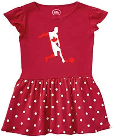Cute Rascals Soccer Player Canada Short Sleeve Taped Neck Girl Cotton  Toddler Rib Dress c8cfa6683
