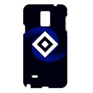 3D Hamburger SV Series Football Club Logo Photo Hard Black Plastic Anti-Dusk Phone Cover For Samsung Galaxy Note 4