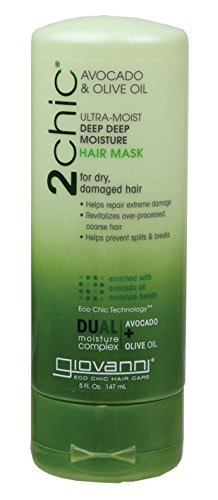 Moist Olive (Giovanni 2chic Avocado and Olive Oil Ultra-Moist Deep Moisture Hair Mask, 5 Fluid Ounce)