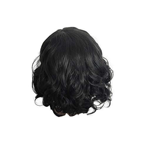 Willsa Fashion Women Brazilian Short Straight Bobo Wig Front Hair Side-parted Wigs