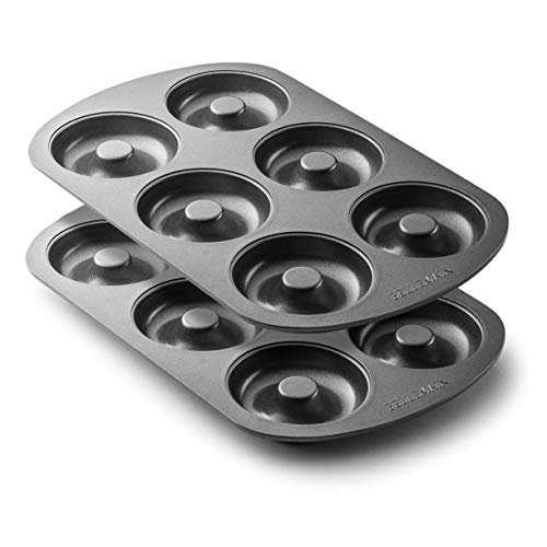 Bellemain Nonstick 6-Well Donut Pan - Set of 2 ()