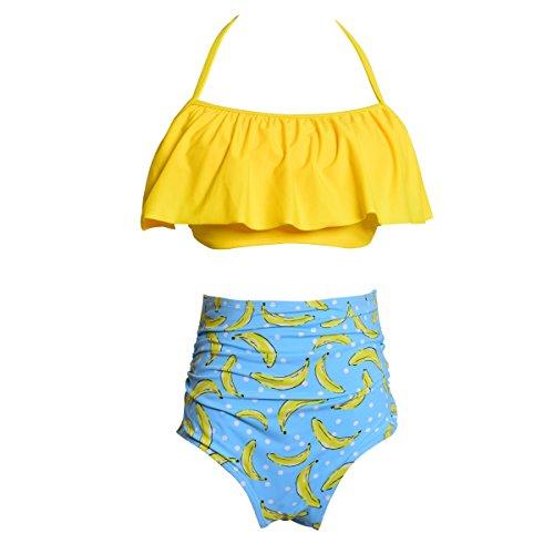 01f718b2a8 Kokowaii Fancy Mother and Daughter Swimwear Family Matching Swimsuit Girls  Swimwear