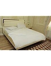 FLAROVAN 100% Cotton Heavyweight Flannel Duvet Cover - King (White)