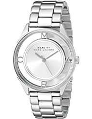 Marc by Marc Jacobs Womens MBM3412 Tether Analog Display Analog Quartz Silver-Tone Watch