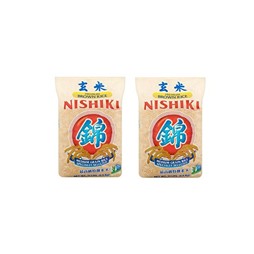 Nishiki Premium Grade Medium Grain Brown Rice, 15-Pound (Brown Rice 15 Lb Bag)