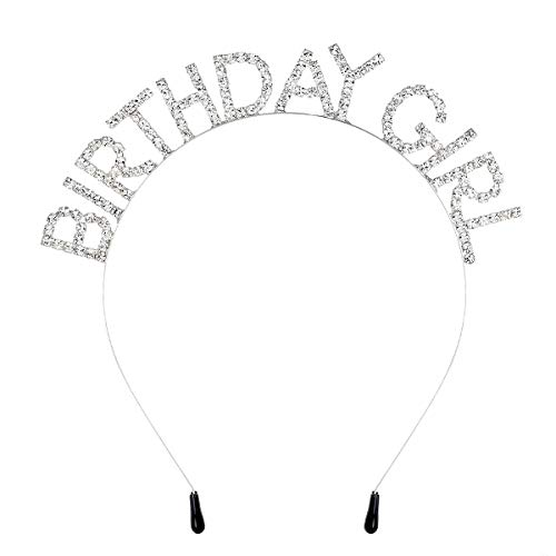 - DcZeRong Girls Birthday Headbands Rhinestone Crystal Diamond Princess Birthday Hair Band Hair Hoop