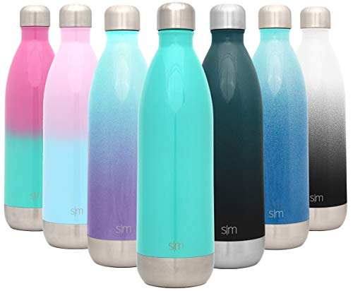 Simple Modern 34 Ounce Wave Water Bottle – Stainless Steel Liter Double Wall Vacuum Insulated Leakproof -Oasis