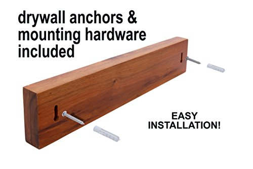Heavy Duty Knife Holder - Magnetic Knife Bar - Knife Storage Strip 18'' (Bamboo Wood, 16 Inch) by Kuaile Kitchen (Image #4)