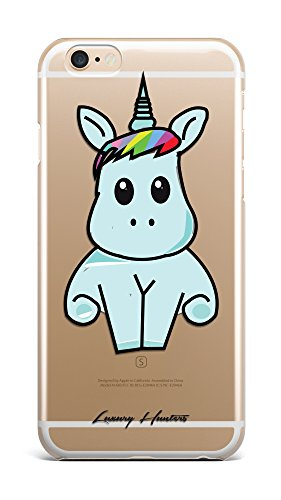 Unicorn Iphone case Huge cute unicorn plastic transparent see through case / cover for Apple Iphone design made by LuxuryHunters ® (Iphone 7)