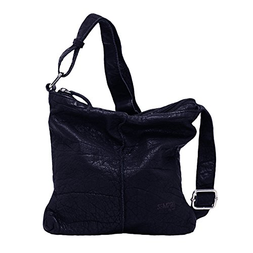 VOi Damen Umhängetasche 50301 Crossover Bag aus der Sempre Kollektion in Blau