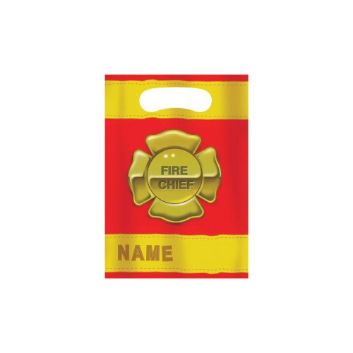 Creative Converting Firefighter 8 Count Party Favor Loot Bags