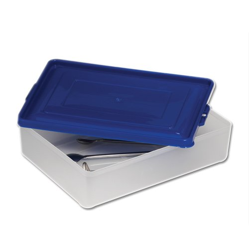 Bel-Art Multipurpose Polypropylene Tray with Snap-On Lid; 8 x 10¾ x 3 in. (F16230-0000)