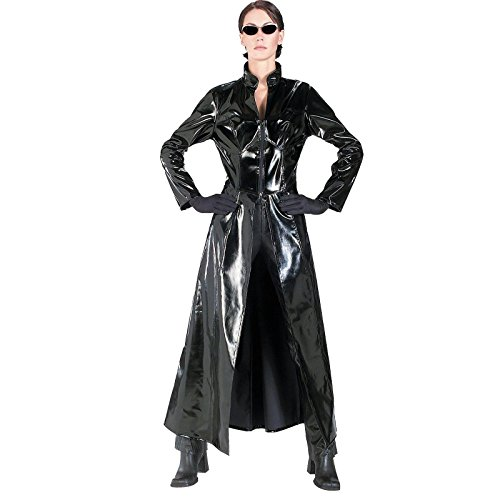 Decades Couple Costumes (The Matrix: Trinity Adult Costume)