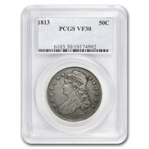 (1813 Capped Bust Half Dollar VF-30 PCGS Half Dollar VF-30 PCGS)