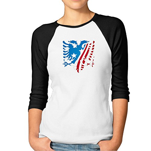 Womens Graphic T Shirt The Albanian Eagle Raglan Sleeves Baseball Juniors